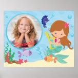 Personalised Little Mermaid Girls Bedroom Poster