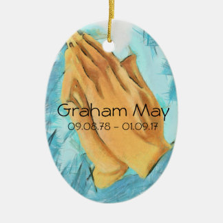Personalised lost love one ceramic ornament