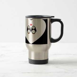 Personalised Love Penguins Travel Mug