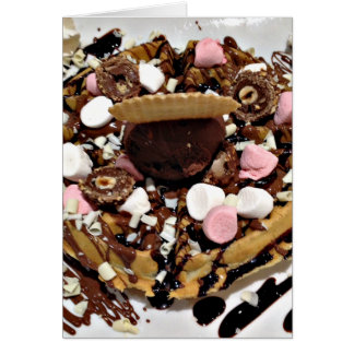 Personalised Marshmallow and Chocolate Cake Card