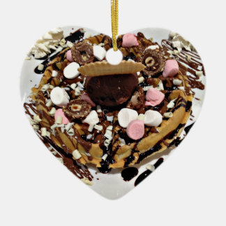Personalised Marshmallow and Chocolate Cake Ceramic Ornament