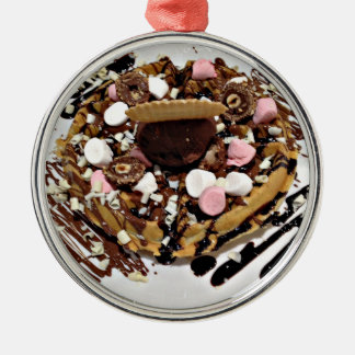 Personalised Marshmallow and Chocolate Cake Metal Ornament
