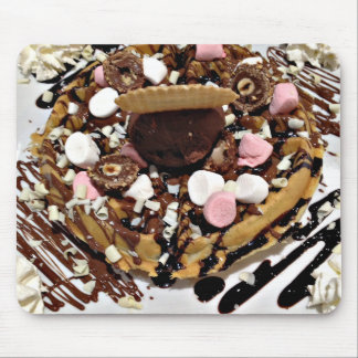 Personalised Marshmallow and Chocolate Cake Mouse Pad