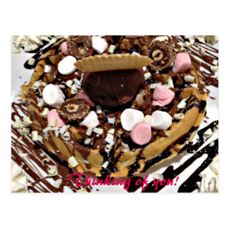 Personalised Marshmallow and Chocolate Cake Postcard