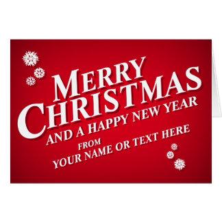 Personalised Merry Christmas Greetings Card