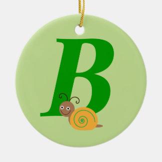 Personalised monogram B and name ornament