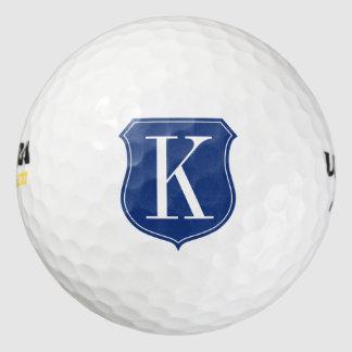 Personalised monogram golf ball gift set for men