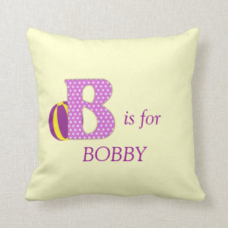 Personalised Monogram Letter B Nursery  Pillow