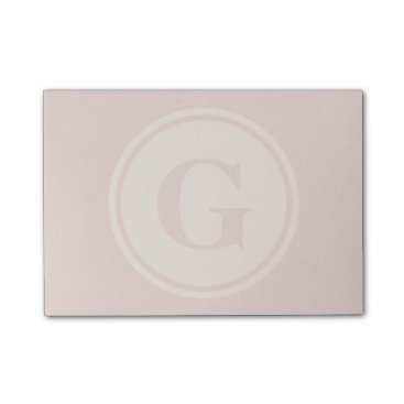 Beach Themed personalised monogram peach post-it notes