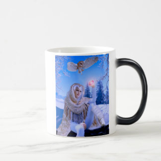 Personalised morphing Mug 'Guardian of the Owls'