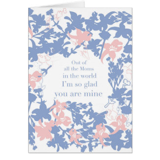 Personalised Mother´s Day Card Floral Print