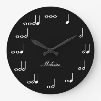 Personalised Music Notes Large Clock