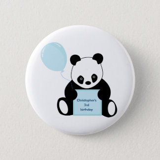Personalised name & age childrens button, pin
