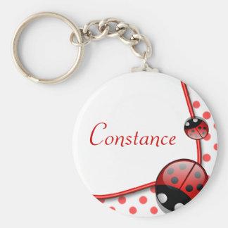 Personalised Name Keyring - Lady Bug Keychain