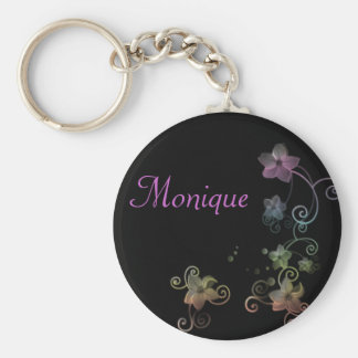 Personalised Name Keyring - Rainbow Flowers Key Chains