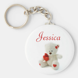 Personalised Name Keyring - Teddy Bears Key Chains