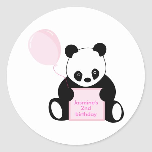 Personalised name kids birthday age stickers