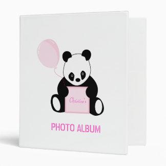 Personalised name panda bear photo album binder