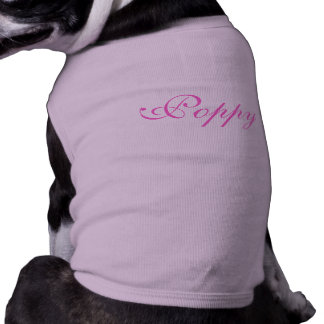 Personalised name pet dog clothing t-shirt, top