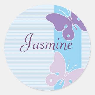 Personalised Name Sticker - Butterflies