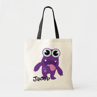 Personalised Nappy/Day Care Bag (Purple Monster)