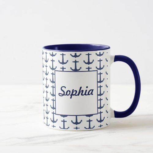 Personalised Nautical Theme Mug