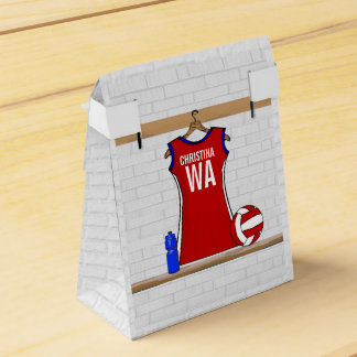 Personalised Netball uniform Favor Box