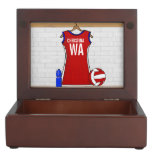 Personalised Netball uniform Memory Boxes