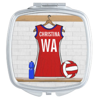 Personalised Netball uniform Vanity Mirror