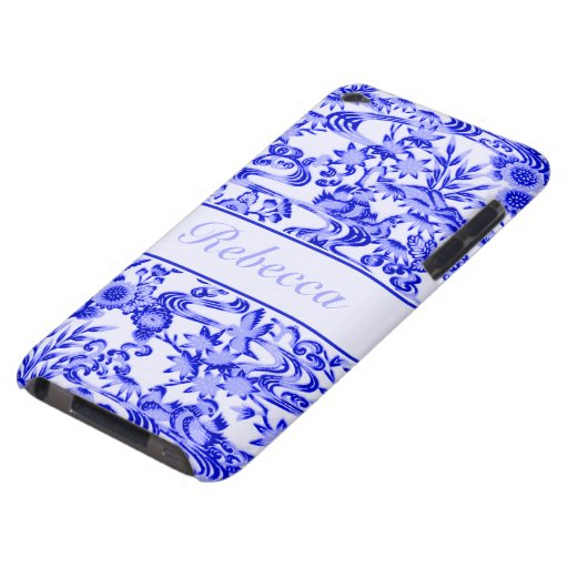 Personalised oriental Bird and leaves pattern iPod Touch Cover