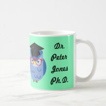 Personalised Owl PhD Graduation Mug