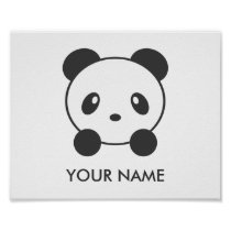Personalised panda poster
