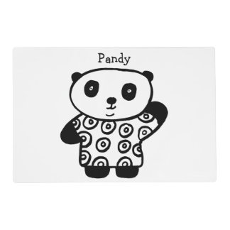 Personalised Pandy the Panda Placemat