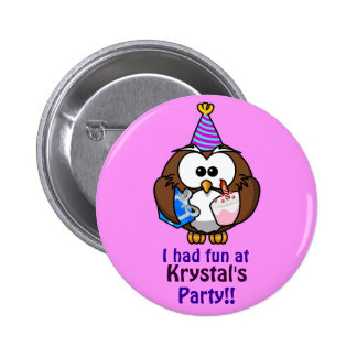 Personalised Party Badge Pinback Button