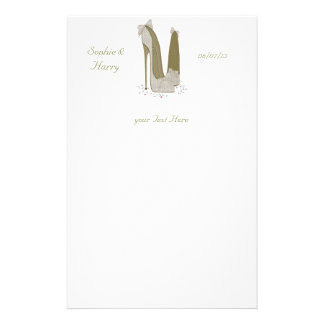 Personalised Party Stiletto Shoe Art Personalized Stationery