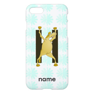 Personalised Pony Monogram H iPhone 8/7 Case