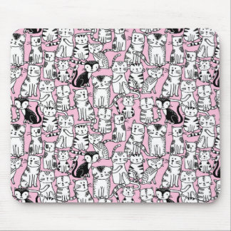 Personalised pretty pink cat design mouse pad