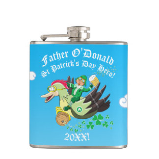 Personalised Priest St Patrick's Day Hero! Flask