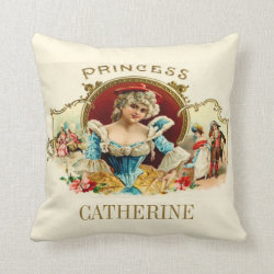Personalised Princess Throw Pillow
