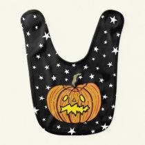 Personalised Pumpkin Halloween Baby Bib