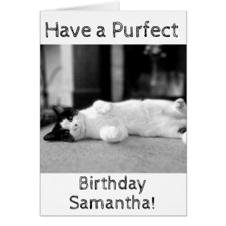 Personalised Purfect Birthday Card