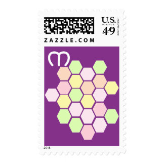 Personalised Purple Pastel Honeycomb Postage Stamps