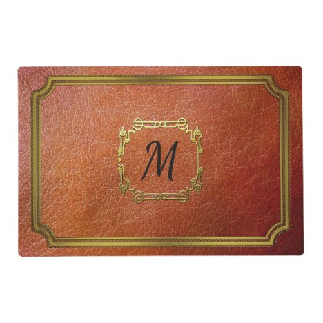 Personalised Reversible Brown Faux Leather Placemat