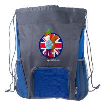 Personalised Rollerskating Fox Drawstring Backpack