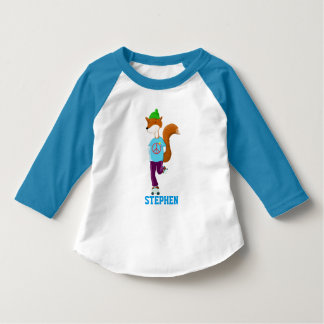 Personalised Rollerskating Fox T-Shirt