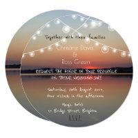 Personalised romantic lake wedding invitation