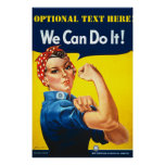 Personalised Rosie The Riveter Poster