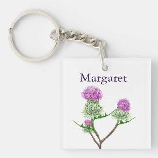 Personalised Scottish Thistle Keychain