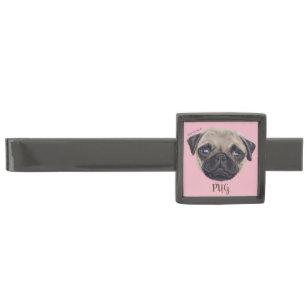 Pug Puppy Tie Bars Tie Clips Zazzle