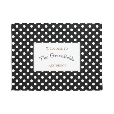 Professional Business Personalised Shabby Chic Polka Dots Design Doormat